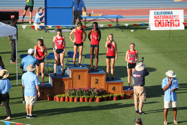 Kendall Derry 2014 CIF State Podium