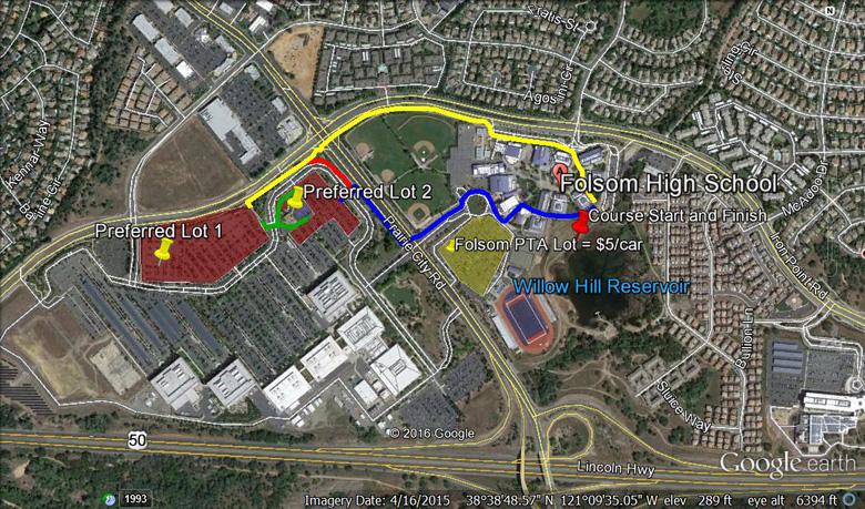 Bronco XC Invite Parking Map
