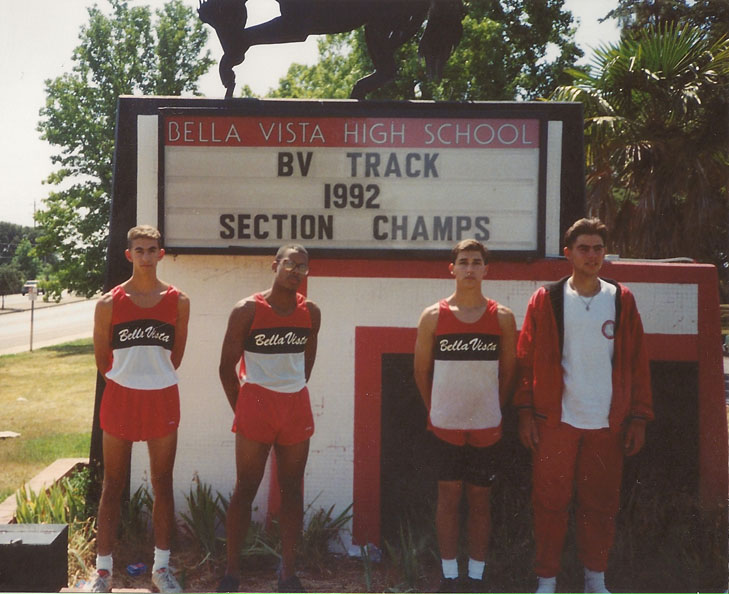 Bella Vista Boys SJS DII Track and Field Section Champs