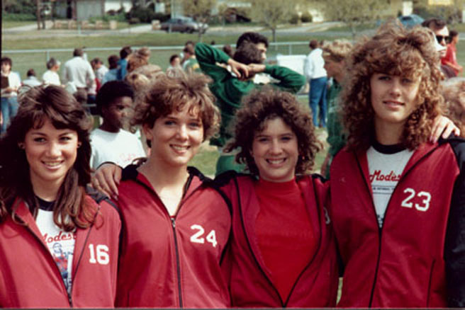 1984 BV Girls Shuttle Hurdle Relay