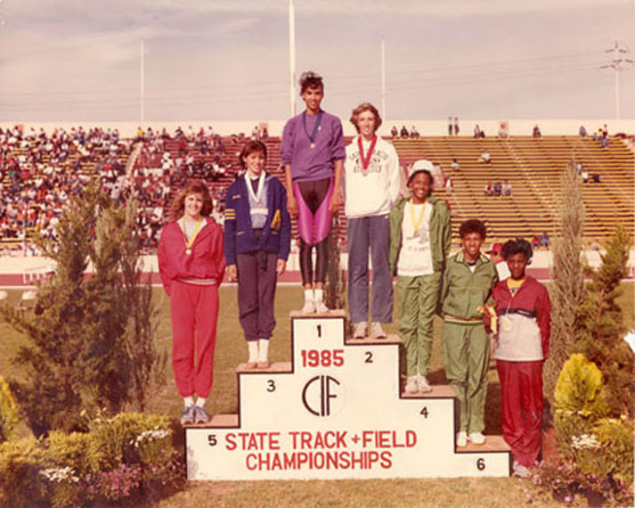 Michelle Wootton 5th Place 1985 CIF High Jump